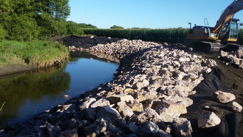 Photo - Lamberton 22 Streambank completed. 800x450