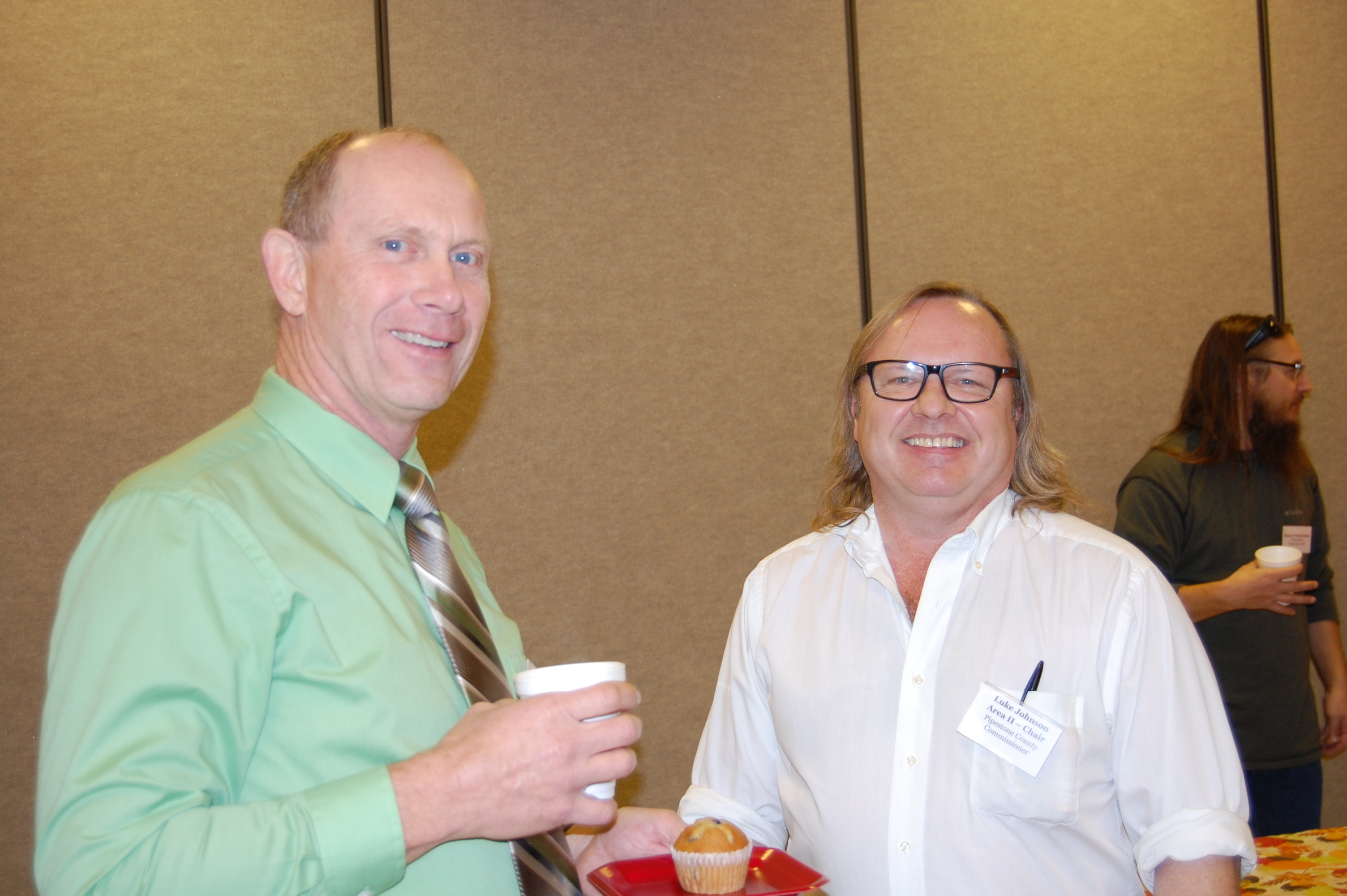 RCRCA Chair Norm Holmen and Area II Chair Luke Johnson